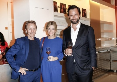 BERLIN, GERMANY - JUNE 22: Businessman Winfried Rothermel, Steffi Maresch and Alexander Maresch attend the 'Glatzel & Szczesny - New York & Saint Tropez meets Berlin' Exhibition Preview at Sankthorst Department Art Gallery on June 22, 2016 in Berlin, Germany. (Photo by Isa Foltin/Getty Images for Ajoure)