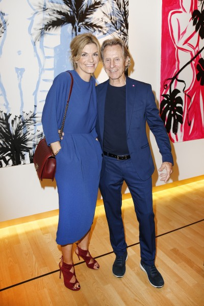 BERLIN, GERMANY - JUNE 22: Steffi Maresch and businessman Winfried Rothermel and artist Elvira Bach attend the 'Glatzel & Szczesny - New York & Saint Tropez meets Berlin' Exhibition Preview at Sankthorst Department Art Gallery on June 22, 2016 in Berlin, Germany. (Photo by Isa Foltin/Getty Images for Ajoure)